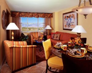Spacious Living room gives plenty of space at Grandview Timeshare