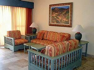 Living Area At Vacation Internationale Torres Mazatlan.