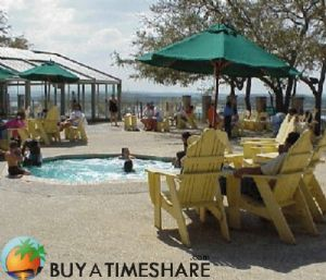 Silverleaf's Hill Country Pool Area.