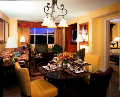 Dining Room and Living room in the Grandview Las Vegas Timeshare