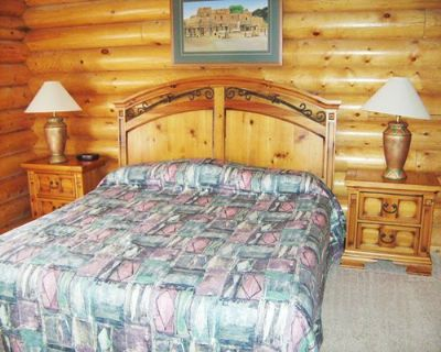 Master Bedroom with a Rustic Log cabin Design