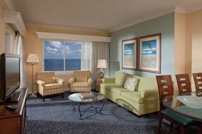 Living and dining area in a Timeshare Unit at BeachPlace Towers